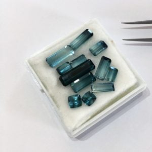 Our beautiful collection of loose Indicolite Tourmaline gemstones.