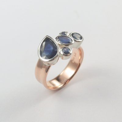 Blue Sapphire Rose Gold Ring